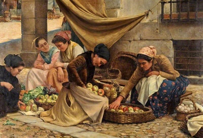 Spanish Market Women at Bilbao