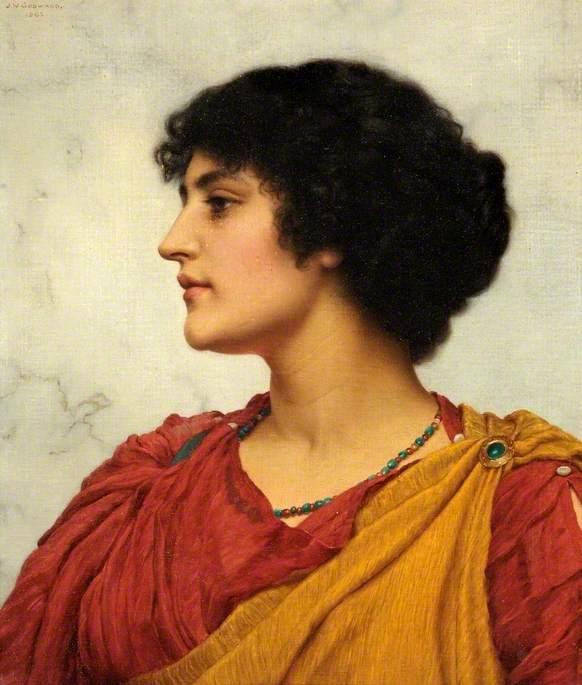 An Italian Girl's Head