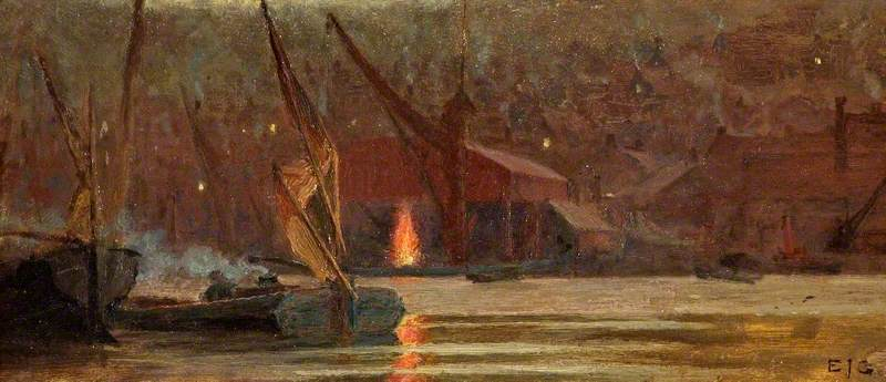 Night Scene on the Medway