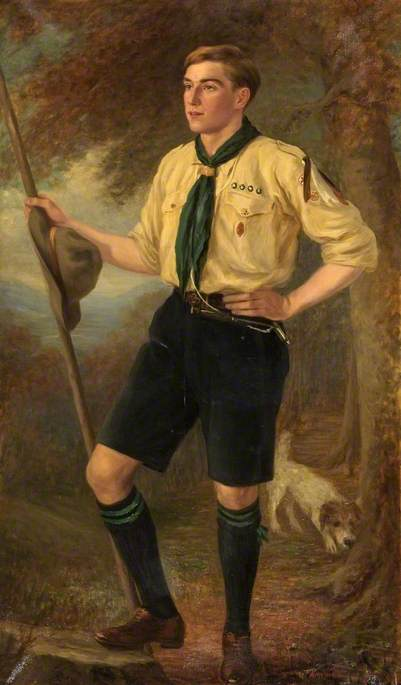 Mr Tilley as a Boy Scout