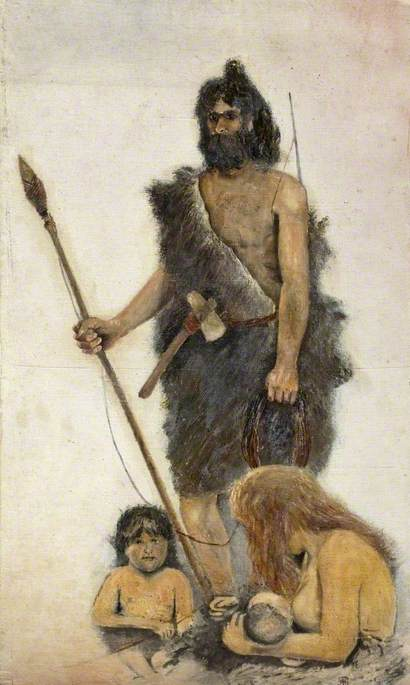 Prehistoric Family Group