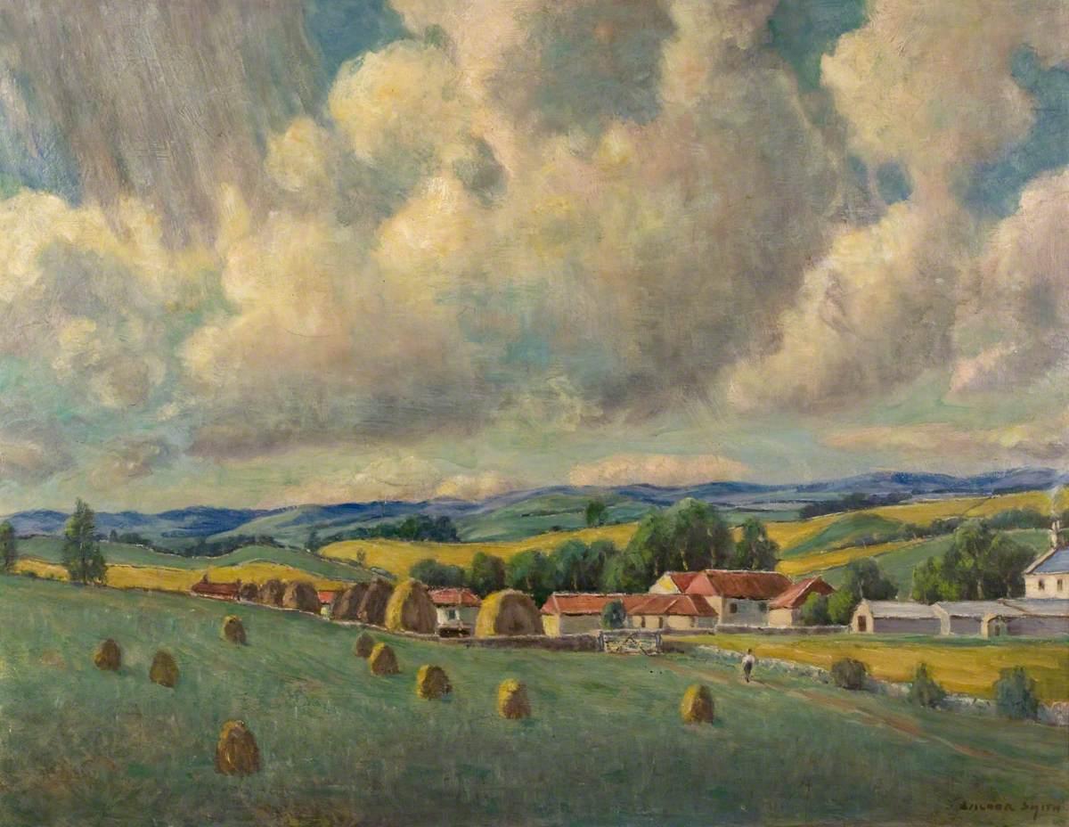 Farmhouses in a Landscape