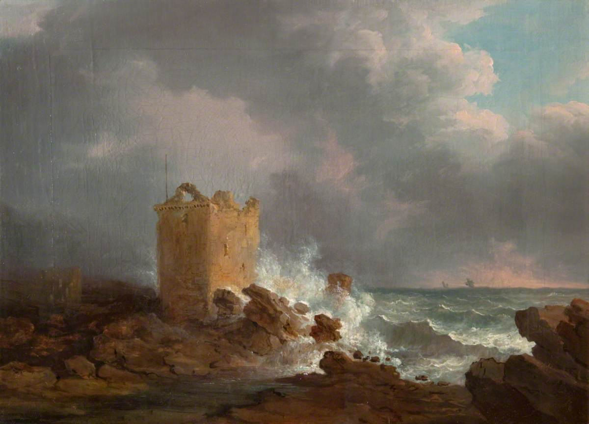 Broughty Castle, during a Storm