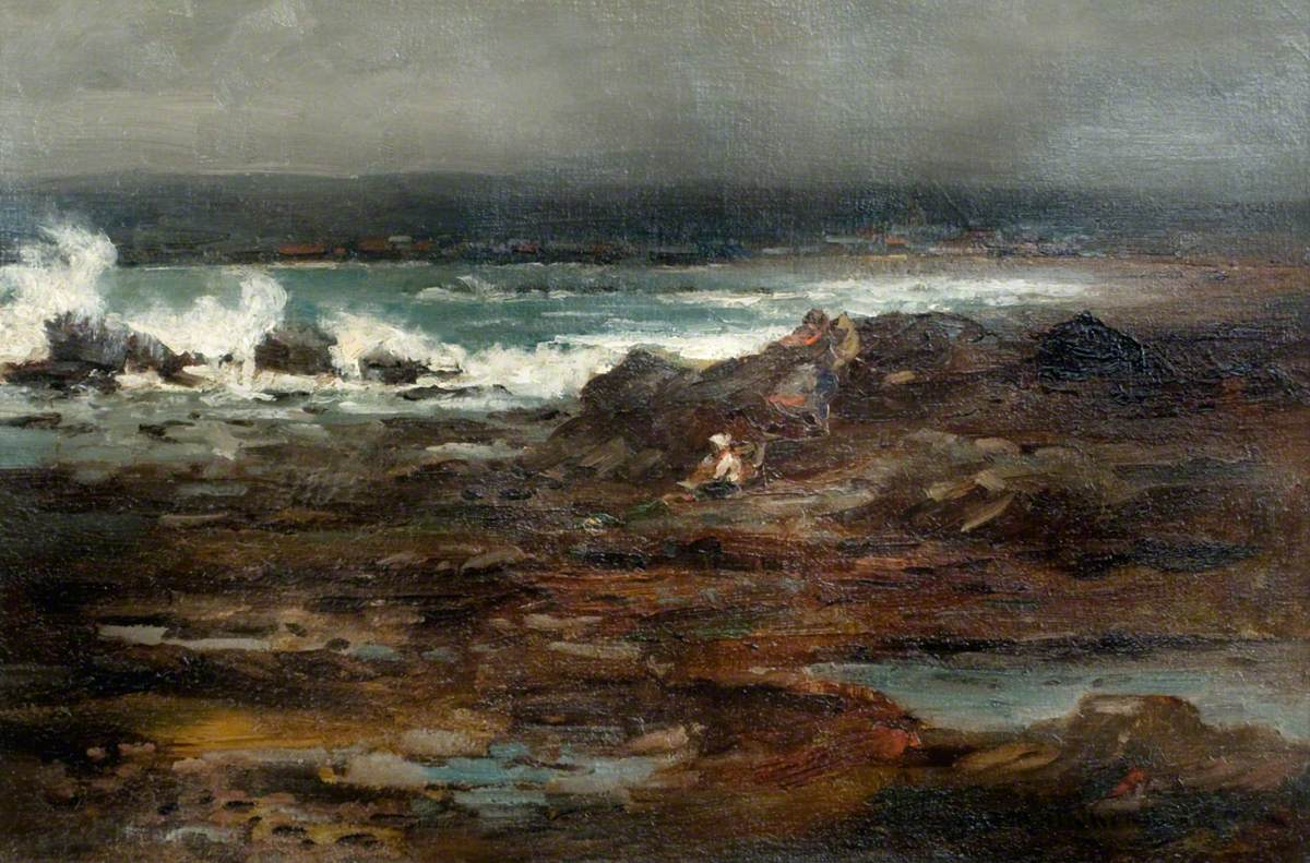 A Stormy Day, Stonehaven, Aberdeenshire