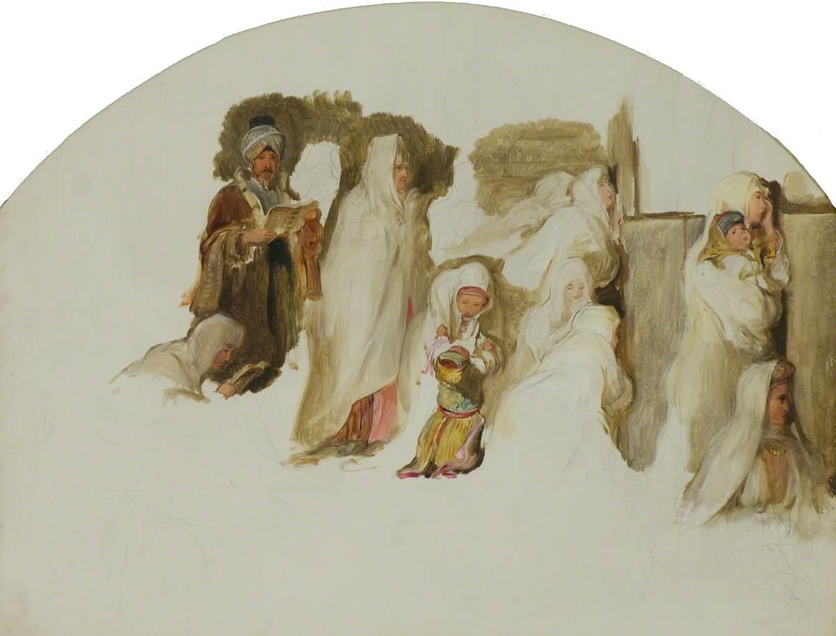 Jews at the Wailing Wall