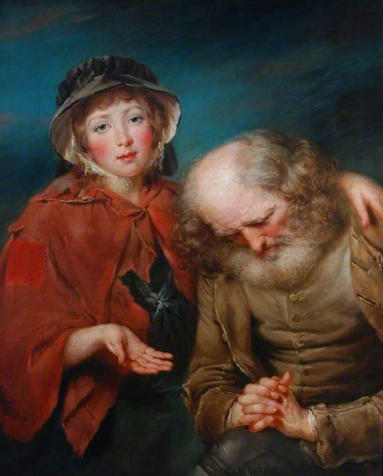 The Blind Beggar and His Granddaughter