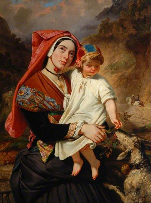 A Young Woman of the Valley of Ossau with Her Child