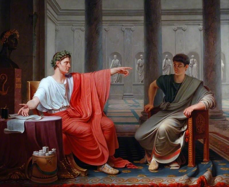 The Emperor Augustus Rebuking Cornelius Cinna for His Treachery
