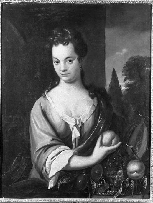 Portrait of a Lady with a Basket of Fruit