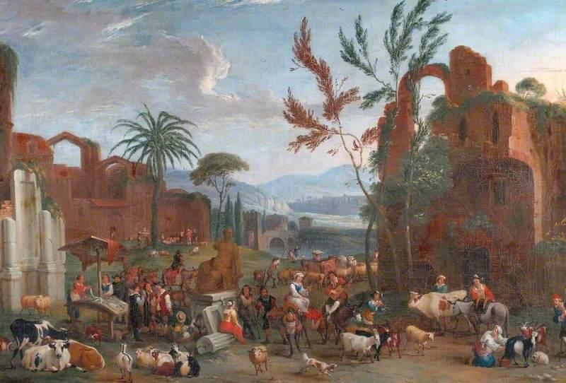 A Market among Classical Ruins