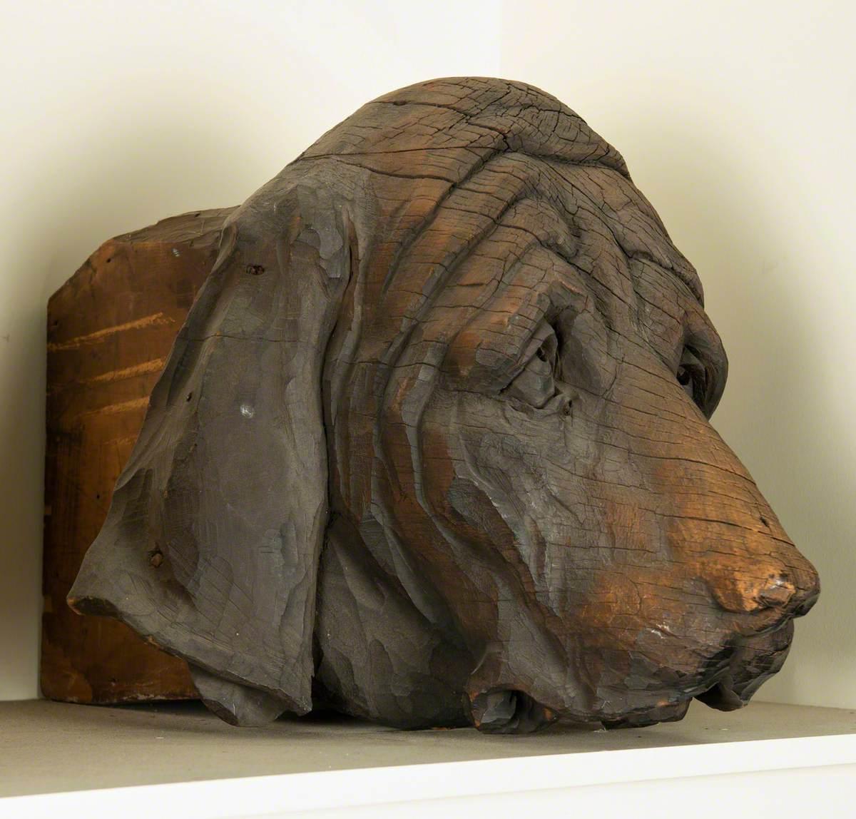 Carved Dog Heads
