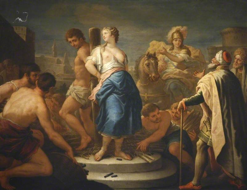 Clorinda Rescuing Olindo and Sophronia from the Stake