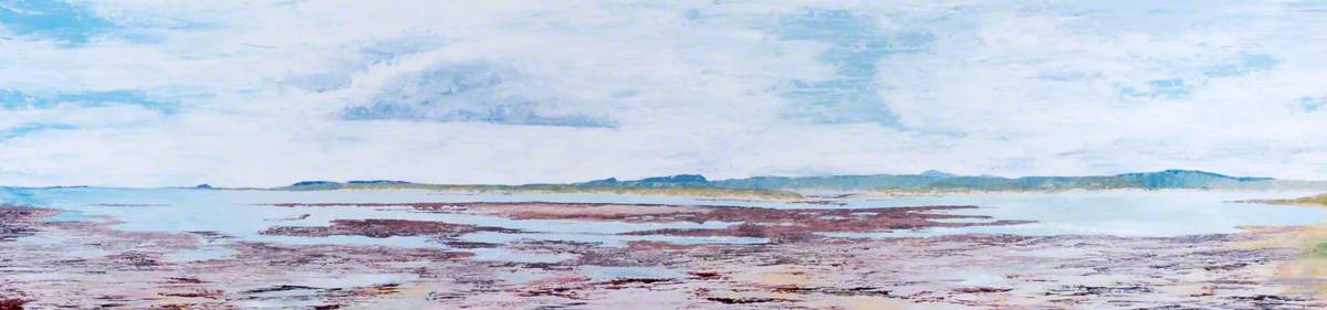 Bamburgh from Lindisfarne, Northumberland