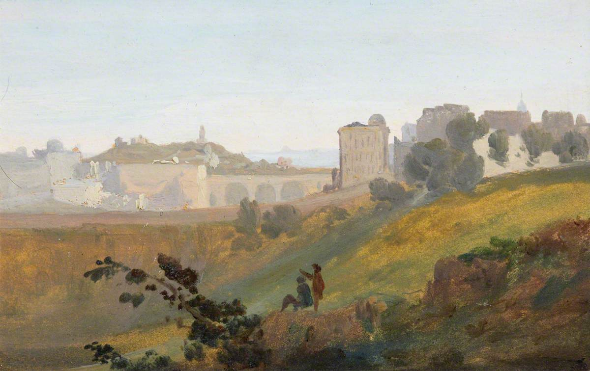 Edinburgh, before the Mound Was Completed