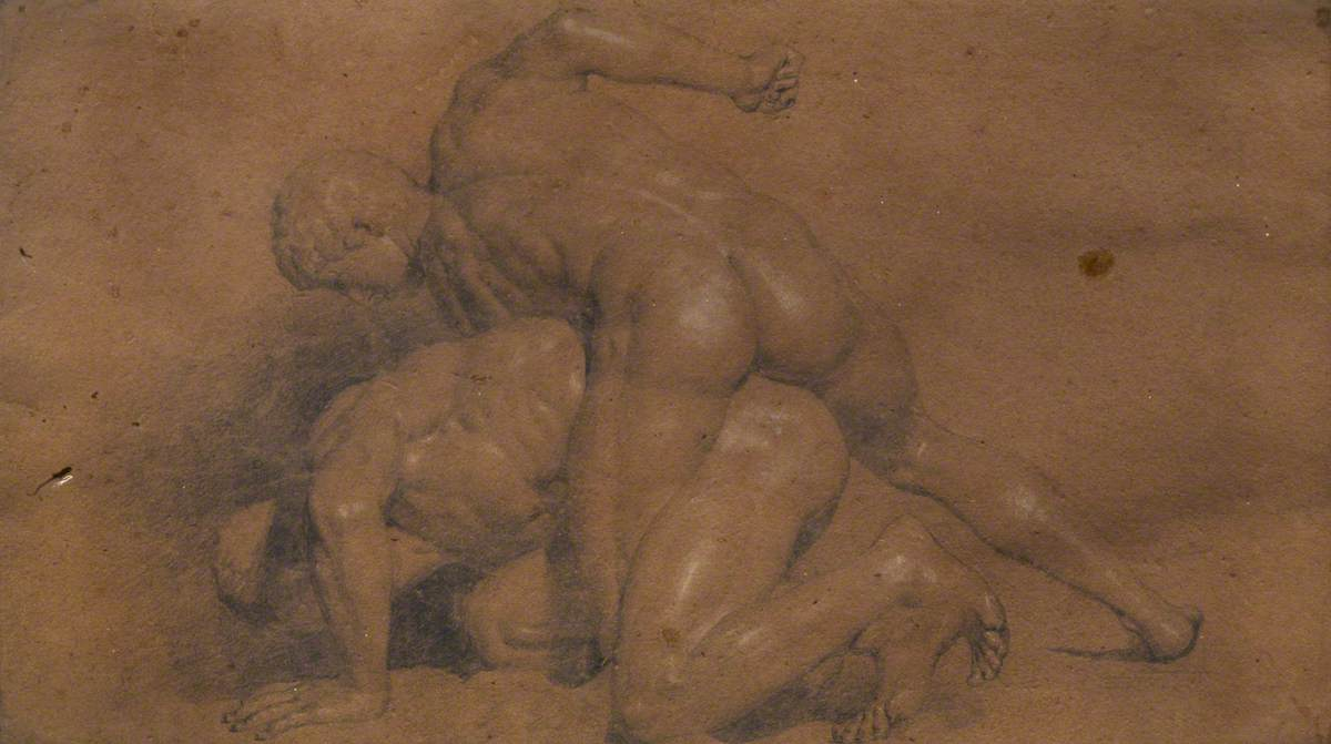 Two Nude Wrestlers