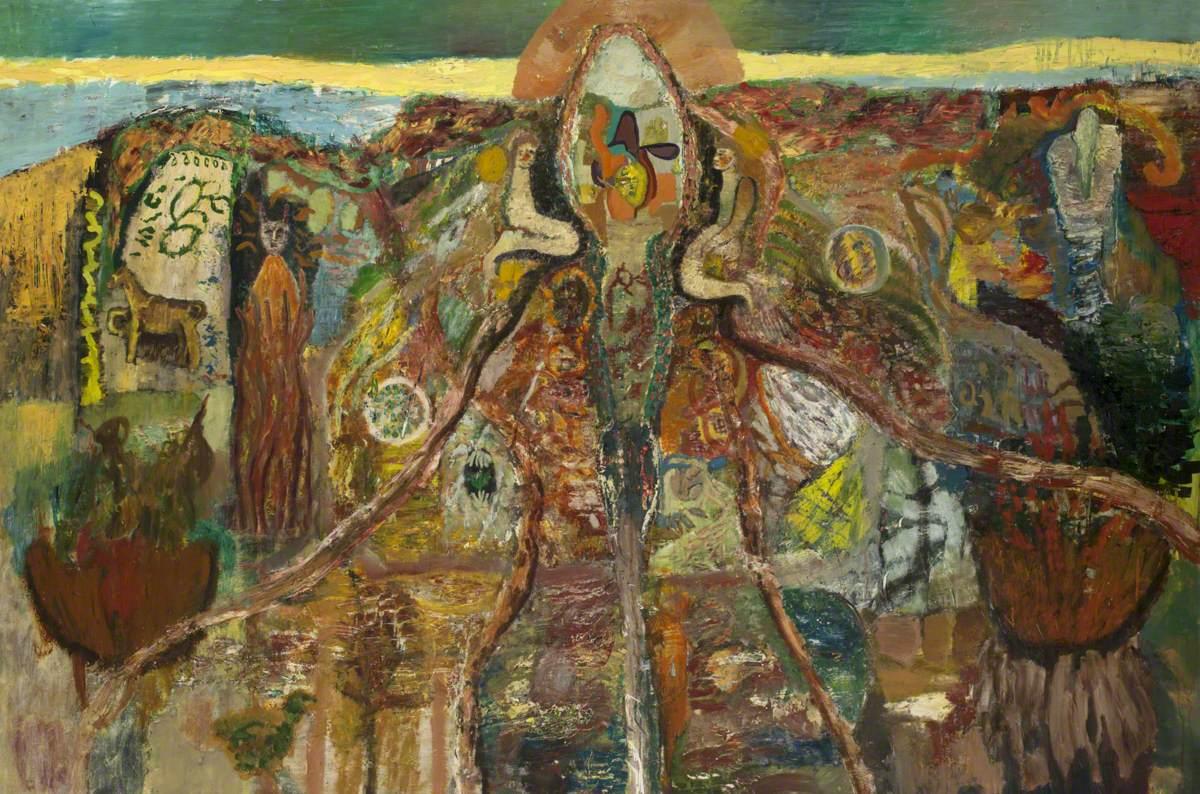 Decorative Mythological Landscape with Figures