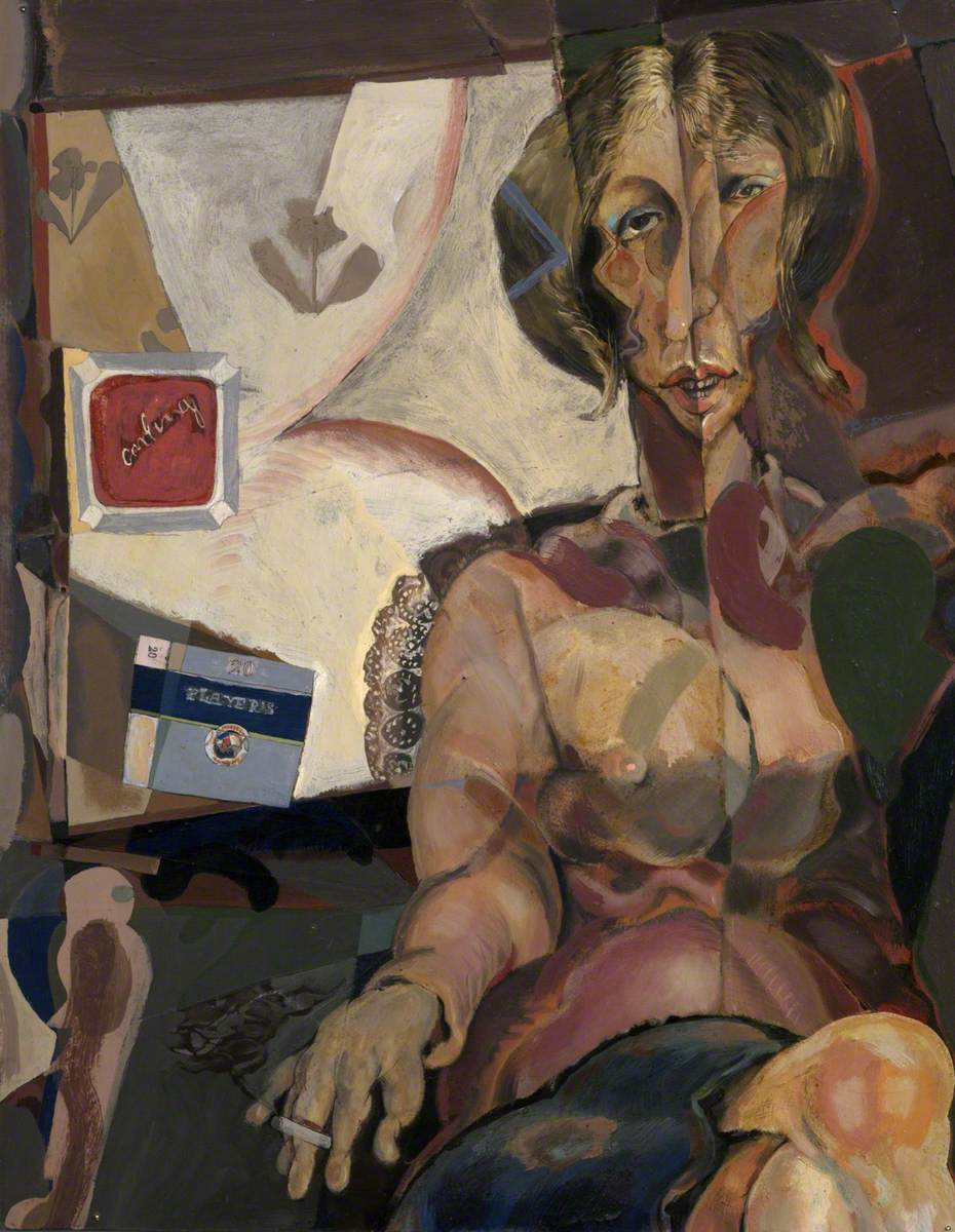 Abstract Woman with Cigarette