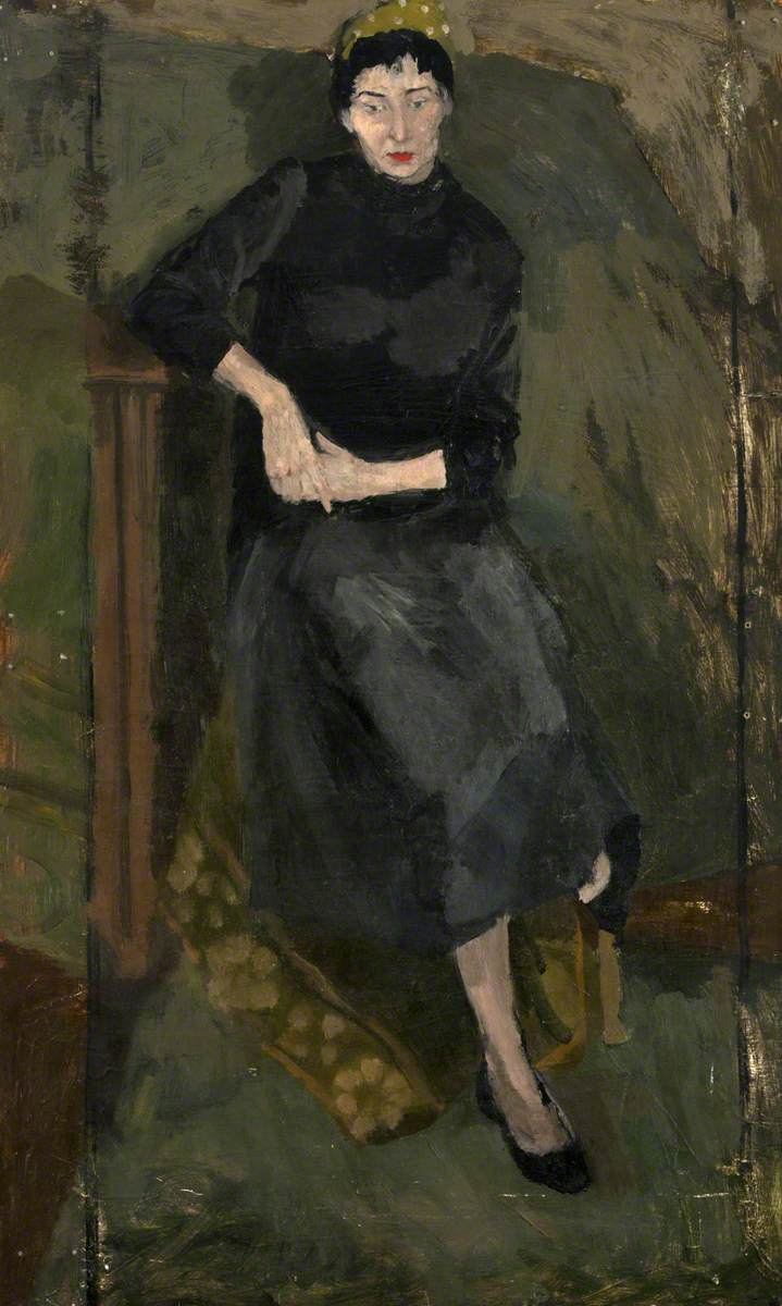 Woman in Black Dress*