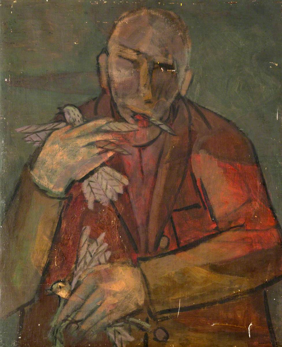Man with Two Birds