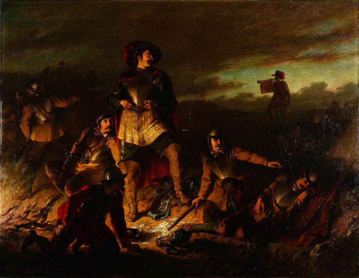 A Night Alarm in the Cavalier Camp