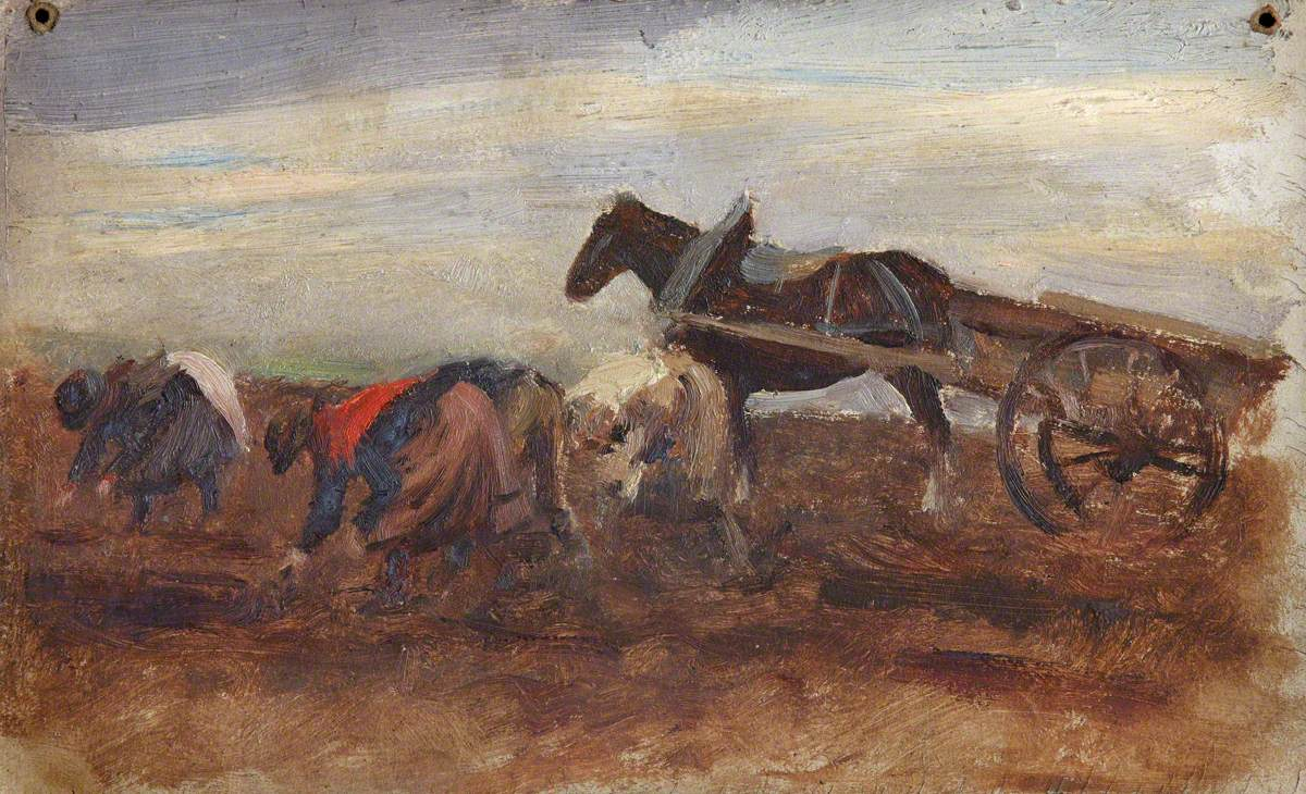 Field Workers with Horse and Cart