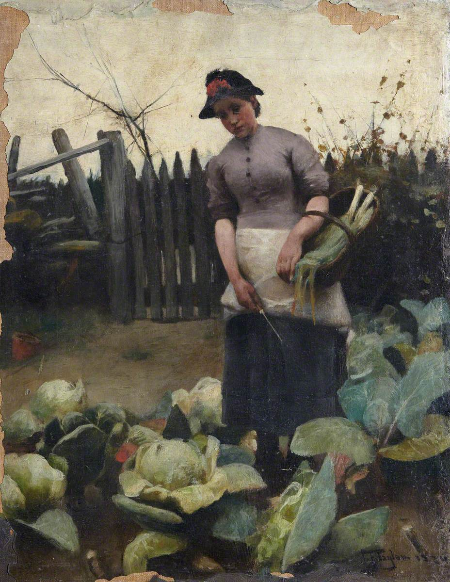 Woman in a Vegetable Garden