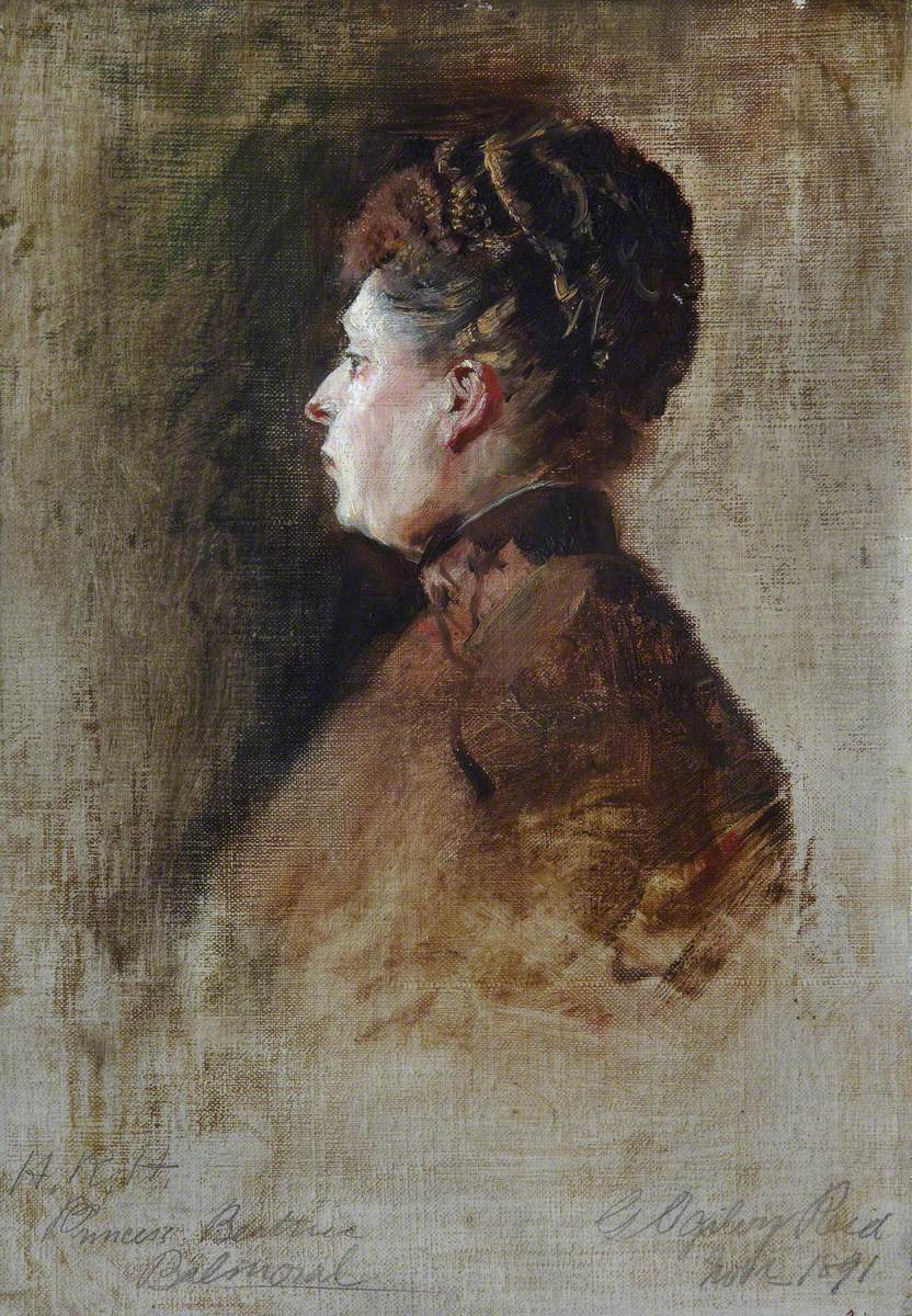 Sketch of HRH Princess Beatrice of Battenberg (1857–1944)