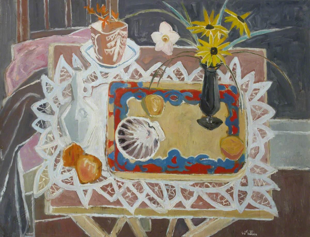 Still Life with Shells and Flowers (Studio Window, Still Life)