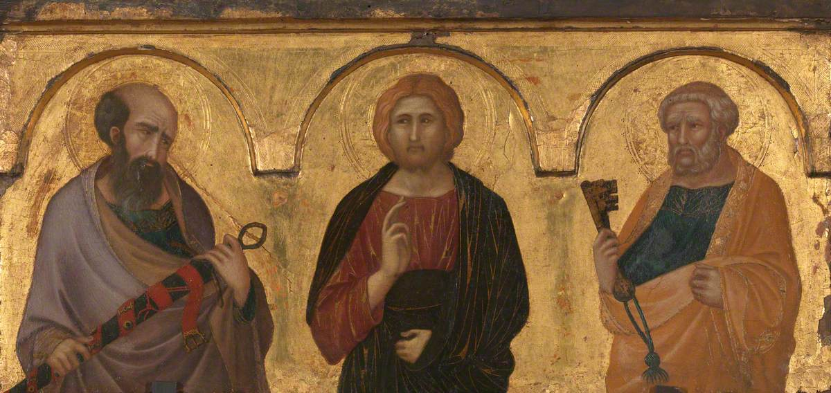 Christ between Saints Paul and Peter
