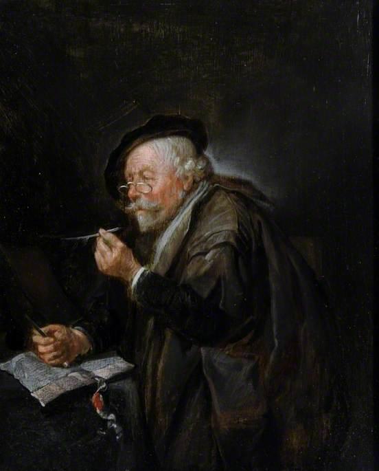 Old Man Writing