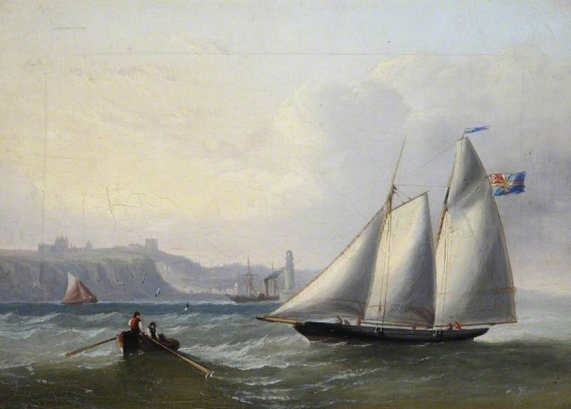 A Sailing Boat off Whitby, North Yorkshire