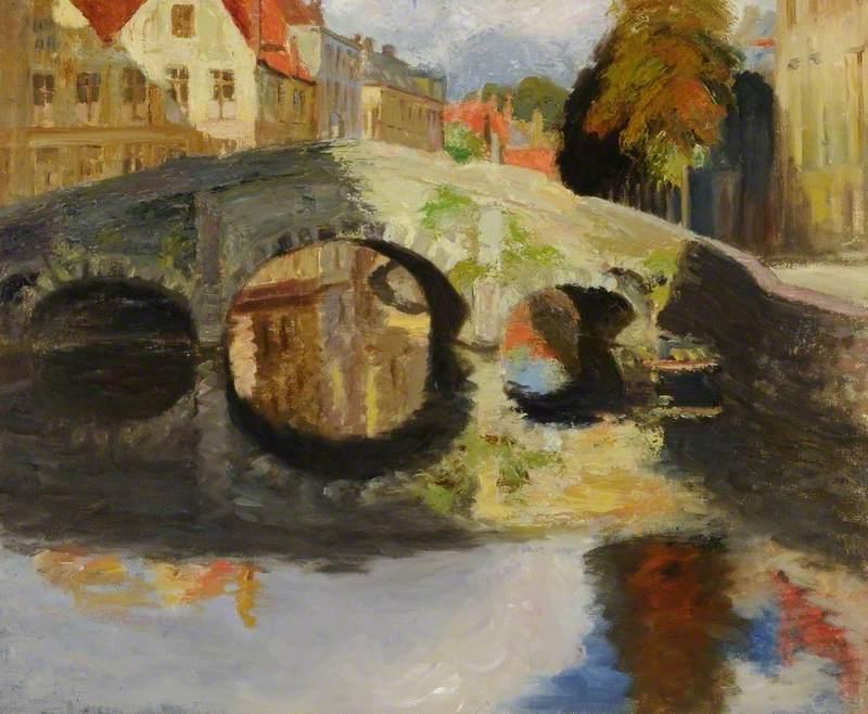 A Bridge at Bruges, Belgium