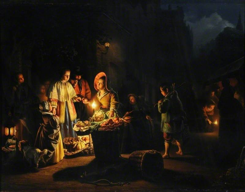 Market Scene by Candlelight