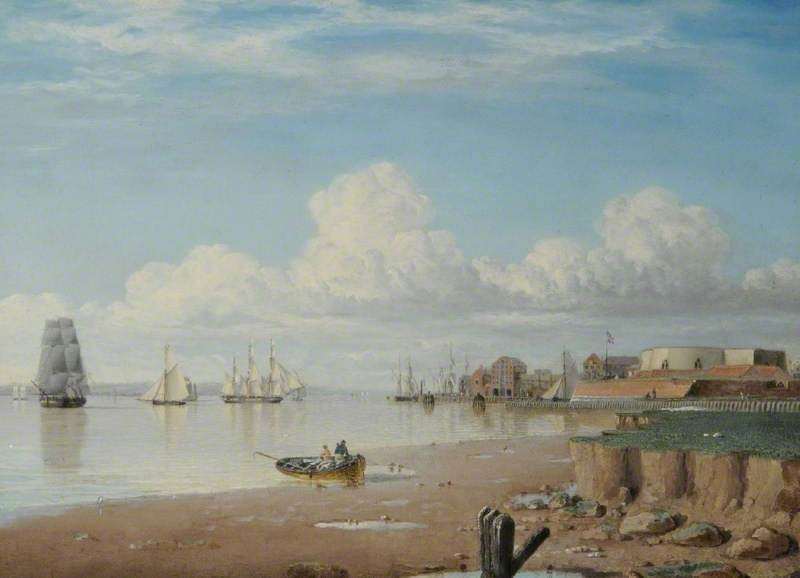 Ships on the Humber and the South Blockhouse, Hull