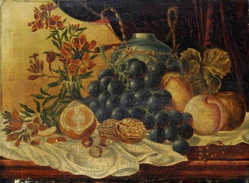 Still Life, Grapes and Walnuts*