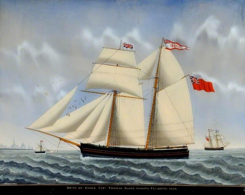 'Irene' of Goole, with Captain Thomas Alsop, Passing Flushing