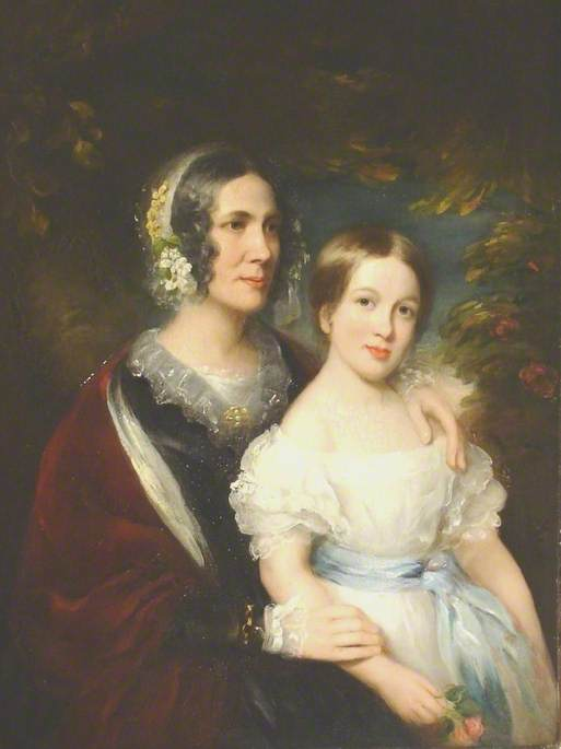 Mrs John Lee Smith and Her Daughter