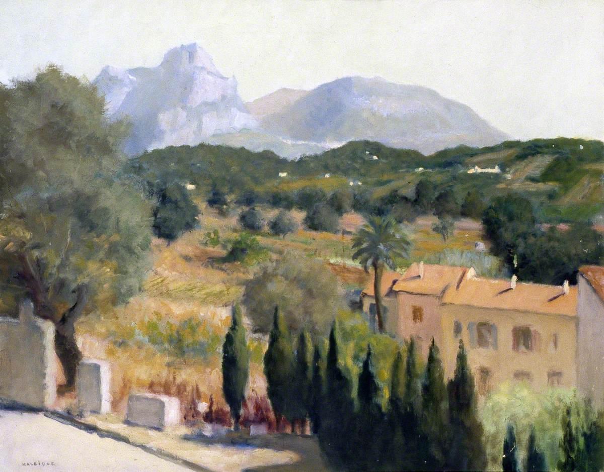 Saint Paul De Vence Art view of the road between st paul de vence and vence, france