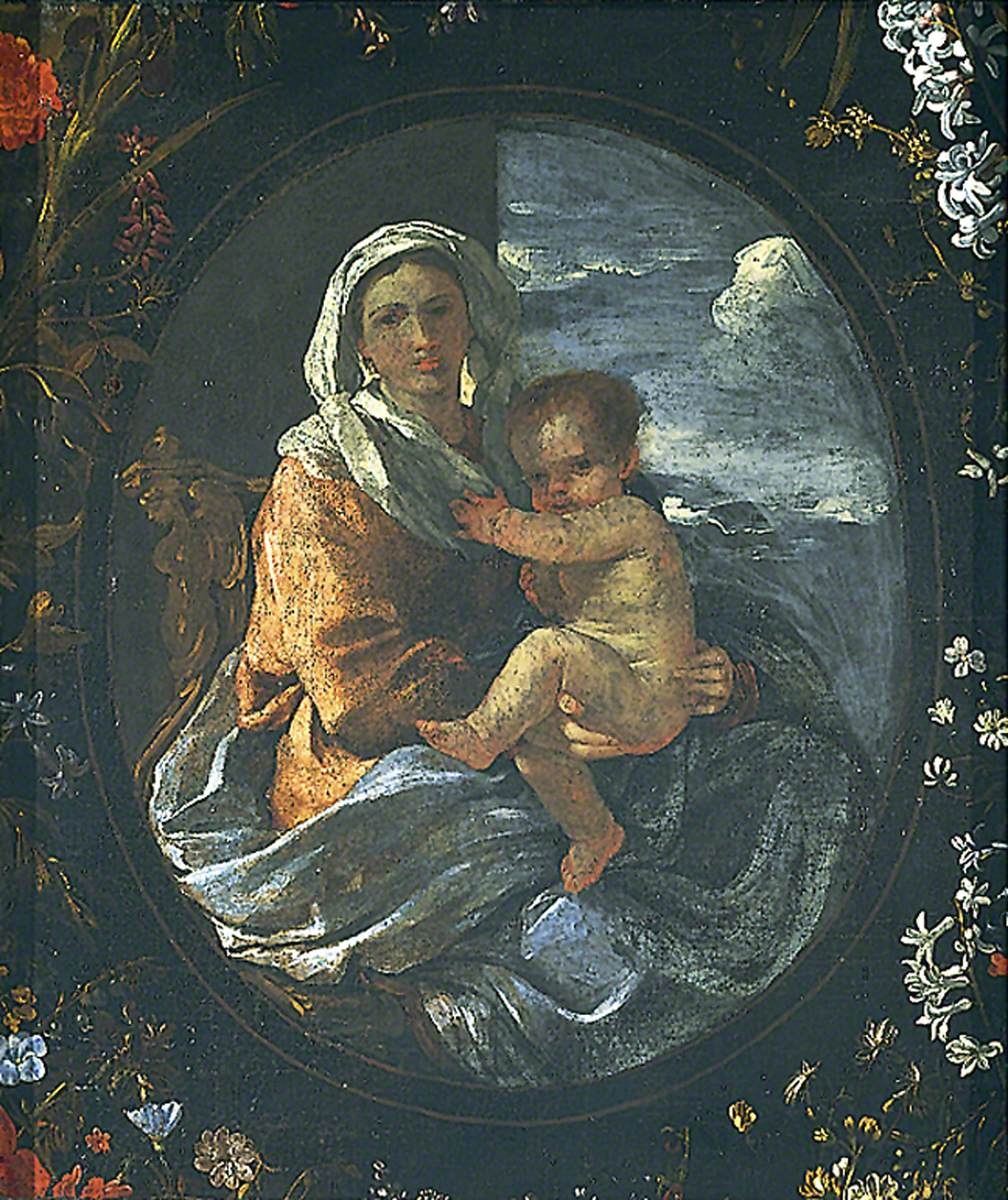 Virgin and Child in a Garland of Flowers