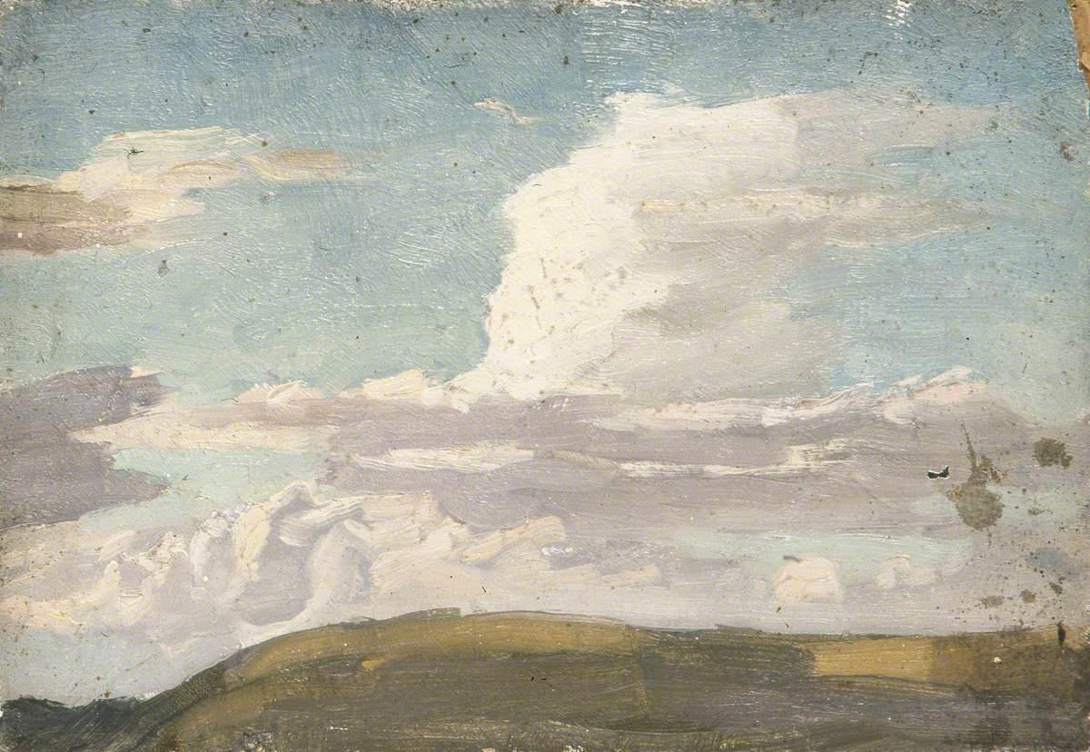 Cloudscape over a Hill