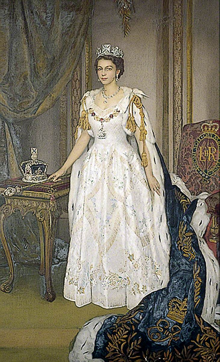 Elizabeth II (b.1926), in Coronation Robes