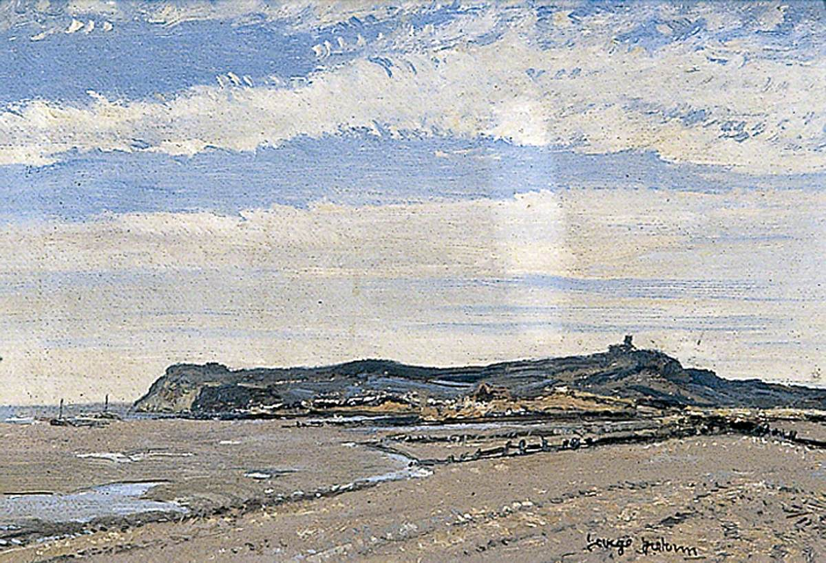 Fairlight Hills from Winchelsea Beach, East Sussex