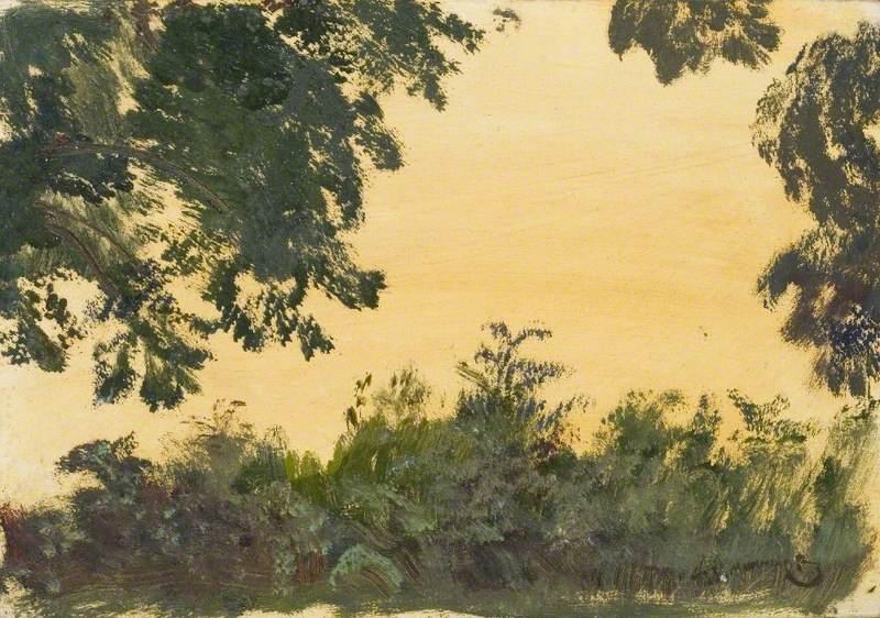 Study of Foliage and Sky