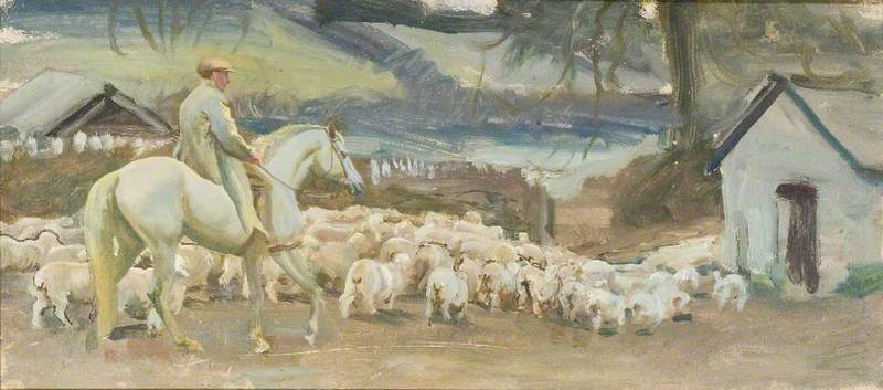 Bringing Home the Sheep, Withypool, Exmoor