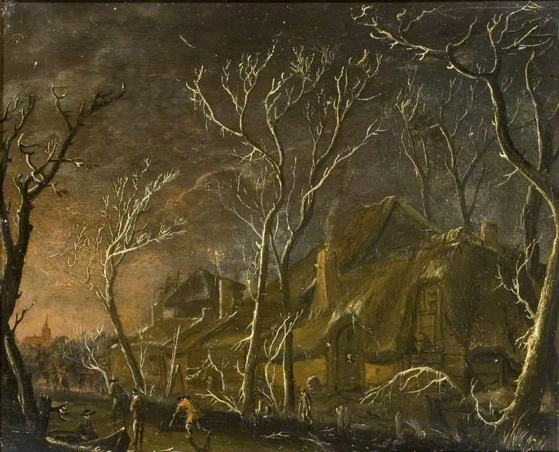 A Winter Scene at Night