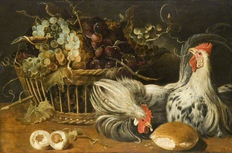 Still Life with Cocks