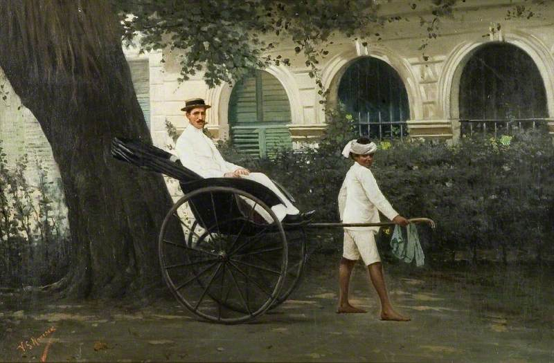 Gentleman in a Rickshaw