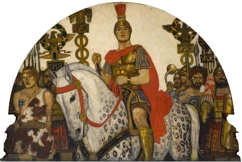 Soldier on a Horse, Depicting the History of the Township of Braintree