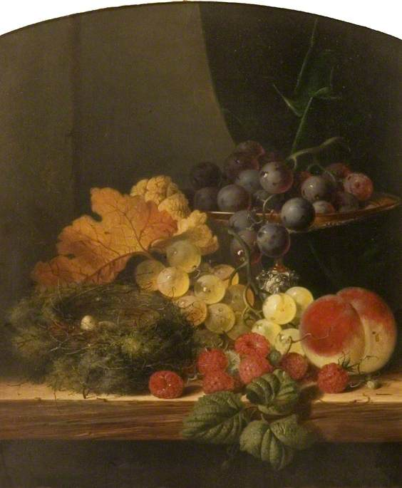 Still Life with Fruit and a Bird's Nest