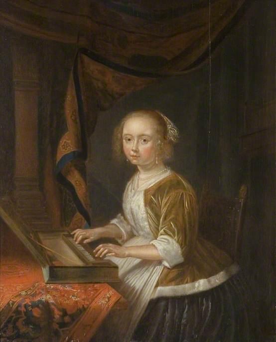 Girl Playing a Virginal